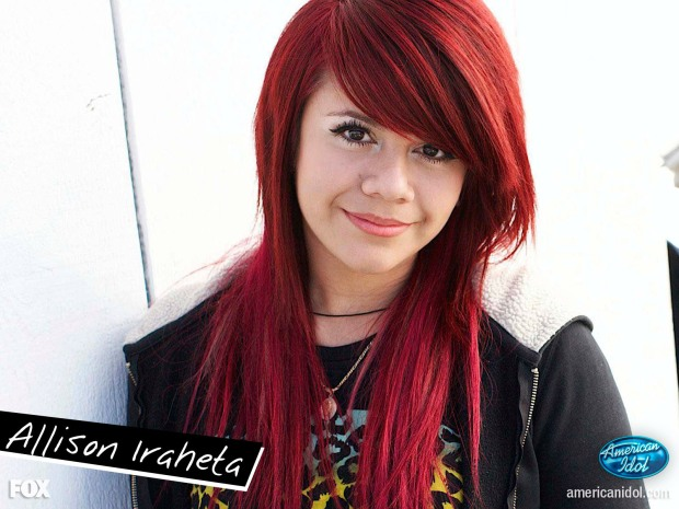 Take away the appearance of years of drug use and this is what Allison Iraheta (sp?) looked like tonight.